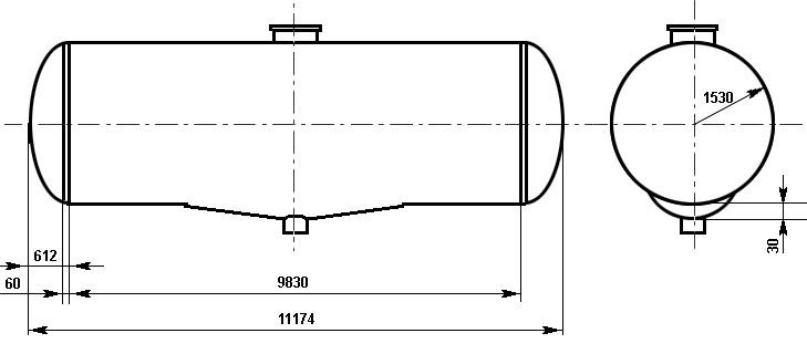 Таблица калибровки цистерны тип 100