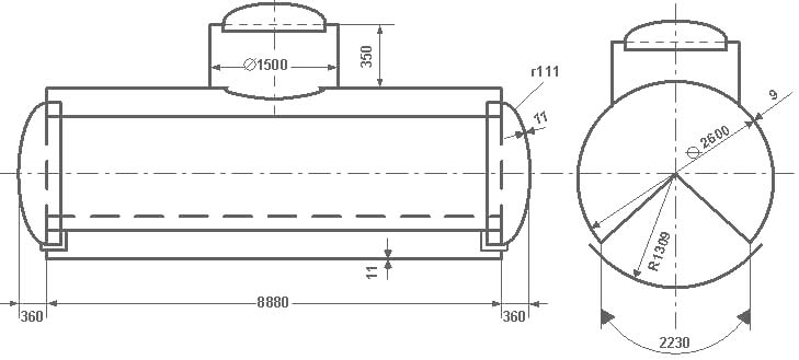 Таблица калибровки цистерны тип 16