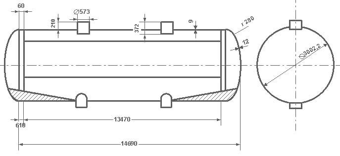 Таблица калибровки цистерны тип 29