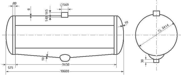 Таблица калибровки цистерны тип 57