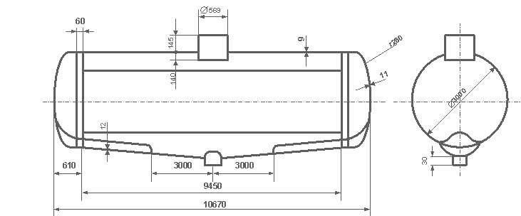 Таблица калибровки цистерны тип 59