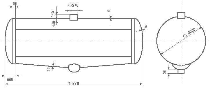 Таблица калибровки цистерны тип 62