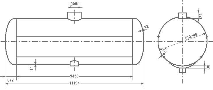 Таблица калибровки цистерны тип 66