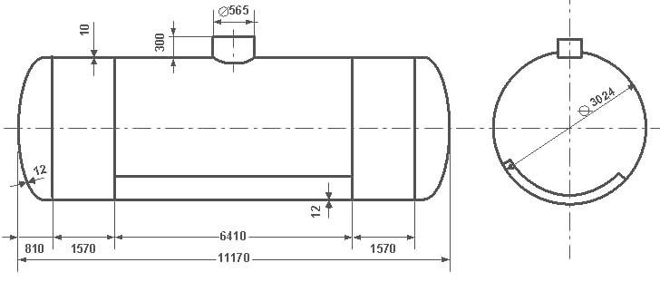 Таблица калибровки цистерны тип 69