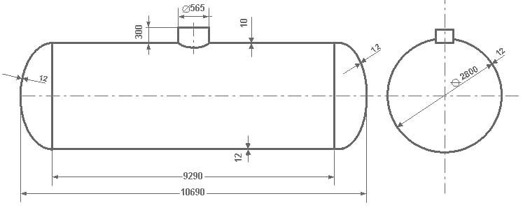 Таблица калибровки цистерны тип 75